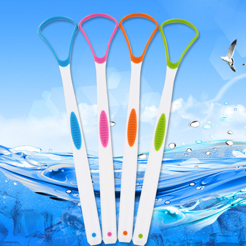 1PC Tongue Brush Tongue Cleaner Scraper Dental Oral Care Tongue Cleaning Tool Oral Hygiene Keep Fresh Breath