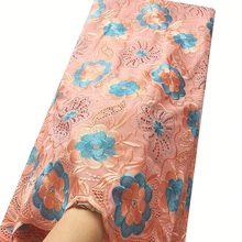 Вуаль сухие кружевные ткани Высококачественная хлопковая кружевная