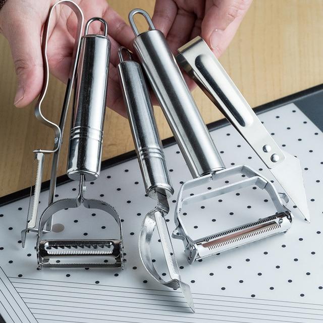 Aço inoxidável multi-função vegetal descascador & cortador de ampjulienne descascador de batata cenoura ralador ferramenta de cozinha 4