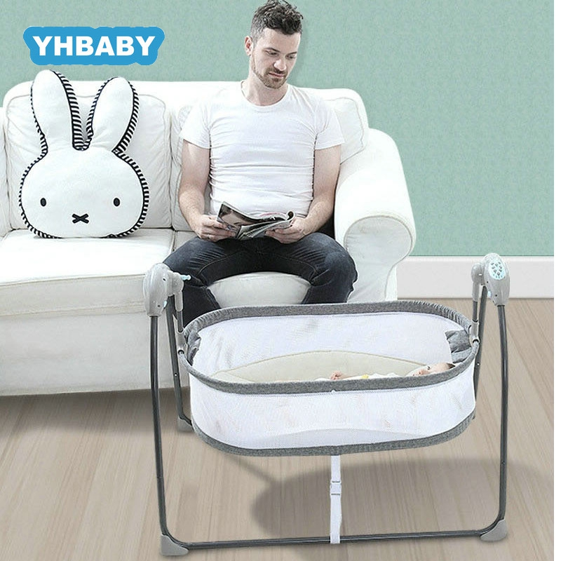 Baby Electric Shaker Comforting Rocking Chair  Newborn Sleeping Intelligent Automatic Flat Lay Crib With Bluetooth
