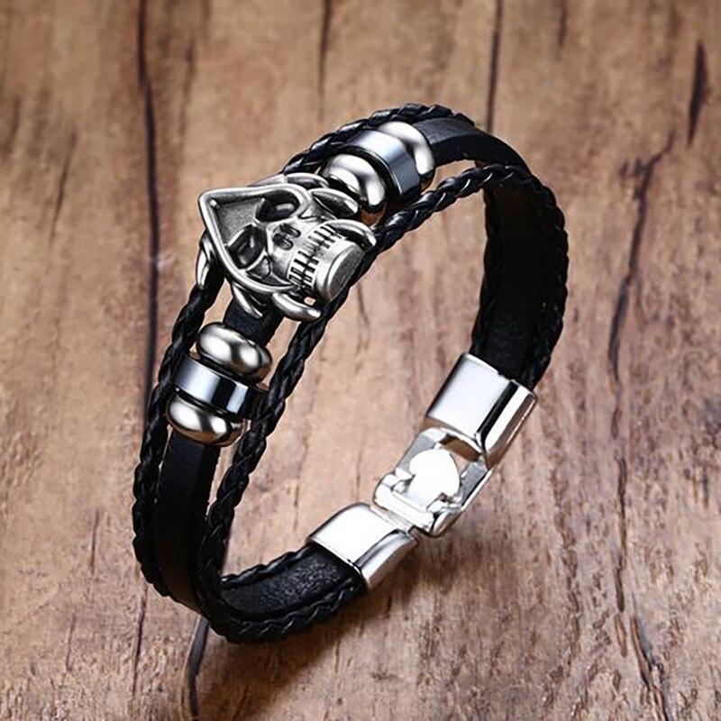 Bracelet crâne viking 3