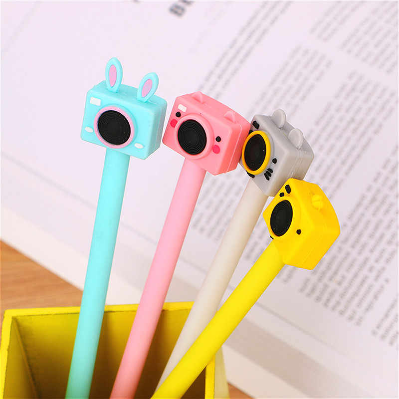 1 stücke Cartoon Kamera Gel Stift Nette Bunte Magie Stifte Kawaii Gel Stifte Schule Schriftlich Neuheit Schreibwaren Mädchen Geschenke 2020new