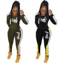 Winter Women's set Tracksuit Full Sleeve Hoodied Sweatshirt Pockets casual Pants Suit Two Piece Set Outfits Streetsweat(China)