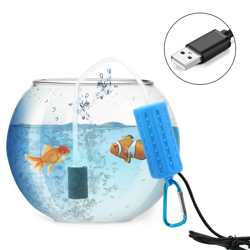 Aquarium Fish Tank Oxygen Air Pump Aquatic Terrarium Filter Mini USB Mute Energy Saving Supplies  Fish Tank Accessories