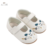 DB16528 Dave Bella spring fashion baby girl floral leather shoes children girls shoes