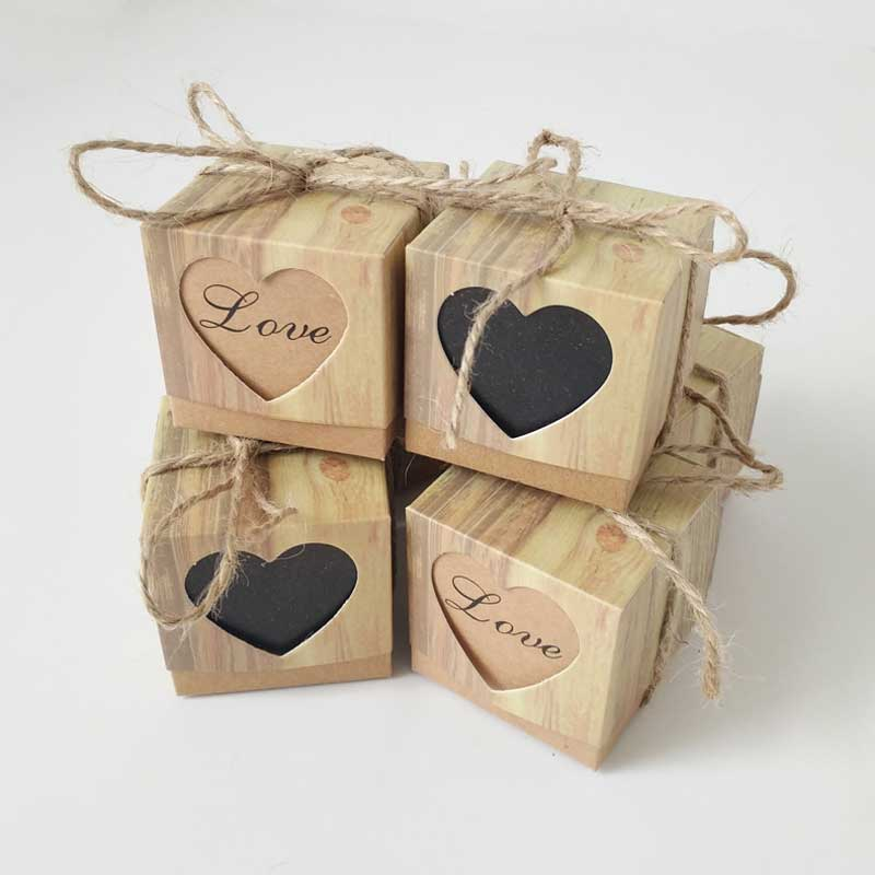 Shower-Supplies Gift-Box Packaging Kraft-Paper Candy-Boxes Goodie-Bags Birthday-Party-Favors title=