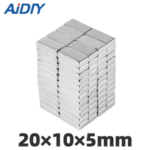 AI DIY 5/10/20 pcs 20x10x5mm strong block neodymium magnets N35 permanent  Super powerful rare earth 20 * 10 5mm
