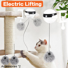 Electric automatic lifting cat ball toy interactive puzzle smart