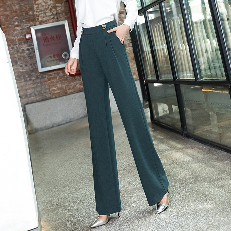 High Waist   Wide     Leg     Pants   Women 2019 New Autumn Casual Loose Plus Size Palazzo   Pants   Korean Full Length Trousers Pantalon Mujer