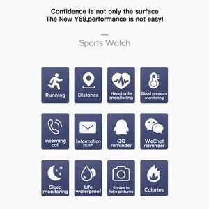 Image 5 - Per il Fitness Tracker Intelligente Orologio Y68 Impermeabile Bluetooth di Sport Uomini SmartWatch Per IPhone Xiaomi Monitor di Frequenza Cardiaca Donne Vita Intelligente