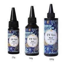 25g 50g 100g uv resina clara cola ultravioleta cura gel para fazer jóias diy b36d