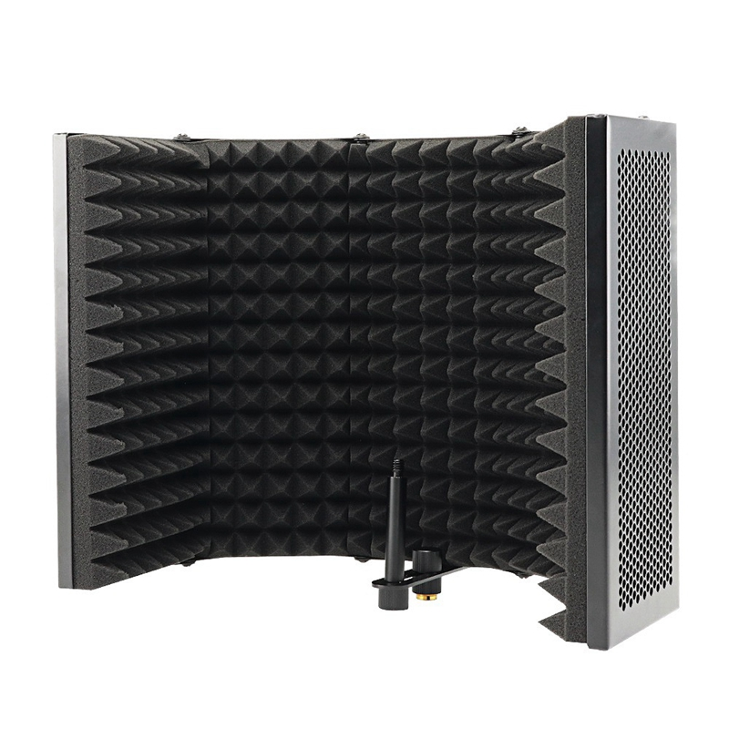 5 Panel Foldable Studio Microphone Isolation Shield Recording Sound Absorber Foam Panel|Microphone Accessories| |  - title=