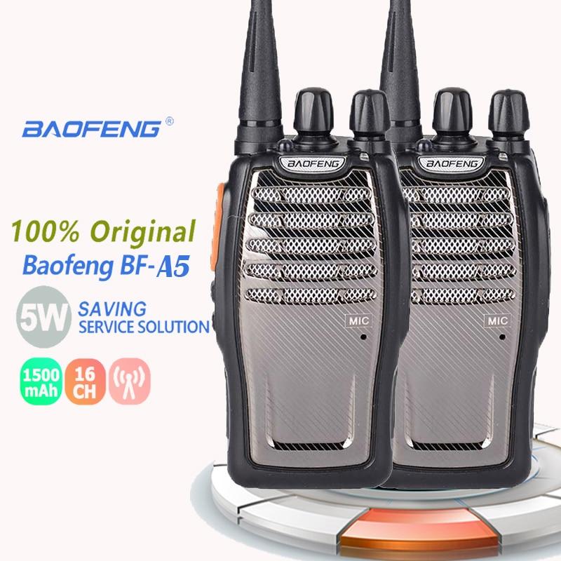 2PCS New Baofeng Bf-A5 Walkie Talkie 3~5W Max 5W UHF 400-470MHz Ham Radio Station Ham Radio Radio Comunicador Portofoon Emisoras