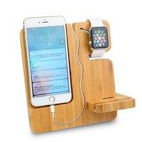 Multifuncional De Madeira Portátil Móvel Suporte Phone Holder Para Smart Phones/Apple Titular Suporte Do Telefone Móvel Do Relógio