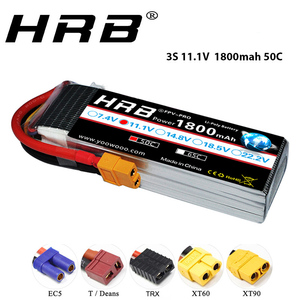 HRB 11.1V 1800mAh 3S 50C LiPo Battery XT60 Plug for Skylark M4-FPV250 Mini Shredder 200 INDY250 RC Heli Airplane UAV FPV Drones(China)