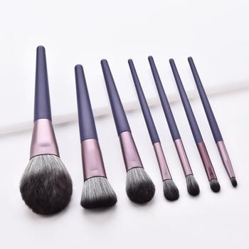 Juego de brochas de maquillaje elegantes ENNKE, brocha de sombra angular para base en polvo, juego de mini cepillos para realzar, cepillo suave y grande