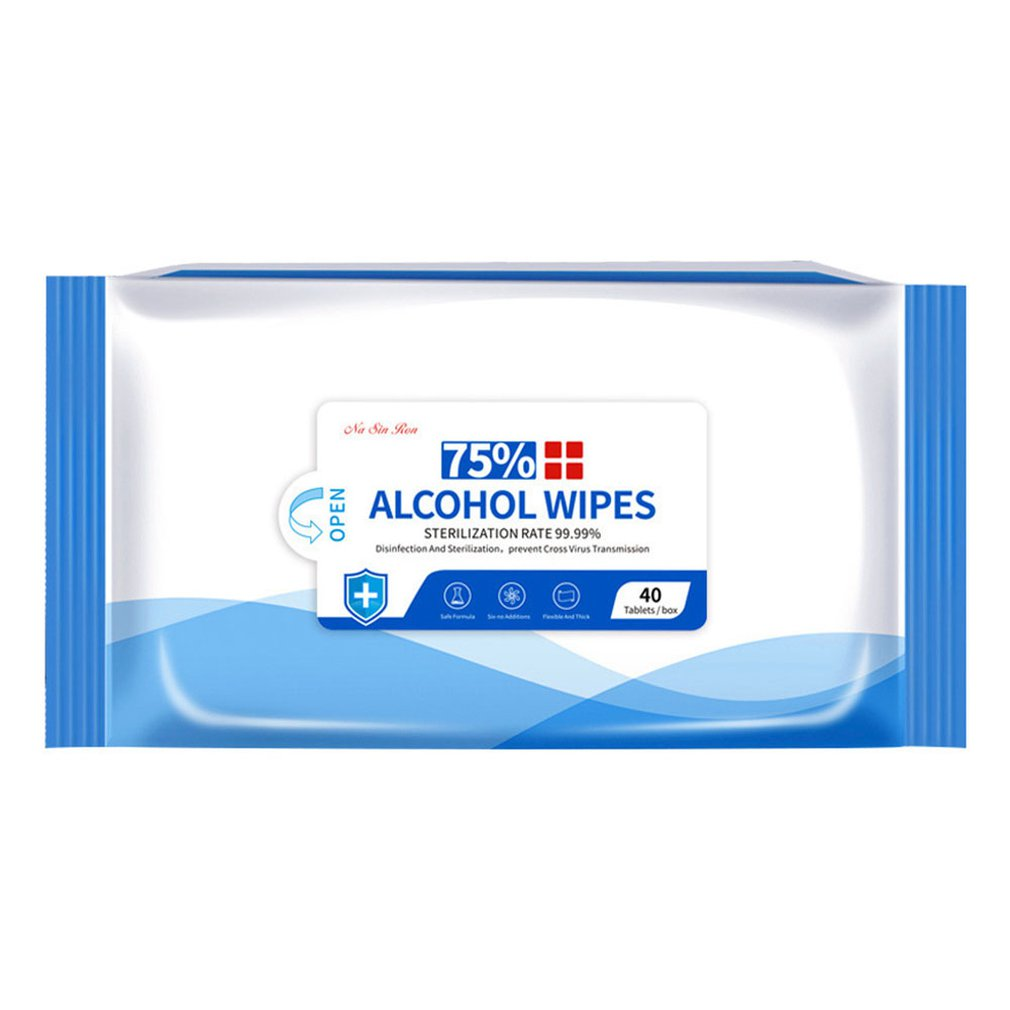 75% Alcohol Wipes Gentle And Non-irritating Disinfection And Sterilization For Skin And Object Surface 40 Pcs/bag