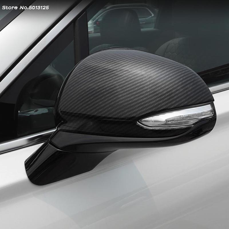 Car rear view Rearview Side glass Mirror Cover trim frame Side Mirror Caps Cover For <font><b>Hyundai</b></font> Santa Fe <font><b>2019</b></font> 2020 Car Accessories image