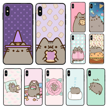Cute Cartoon Pushee Phone case For iphone 4 4s 5 5S SE 5C 6 6S 7 8 plus X XS XR 11 PRO MAX 2020 black luxury Etui painting cover image