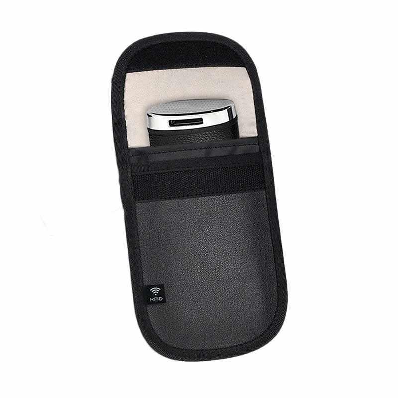 RFID Signal Blocking Pouch Credit Case Anti-theft Keyfobs Entry Car Keys Black