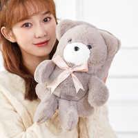 Saim Hot Water Bottle Hand Warmer Heater Bag for Winter Rechargeable Removable Plush Cute Bear Heating Warm Water Bag JJ50682
