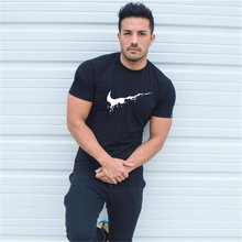 цены на Rashgard Sports Compression Tight T-Shirts Men Gym fitness running t shirts jogger tees Quick Dry Workout Training Printed Short Sleeves male sportswear  в интернет-магазинах