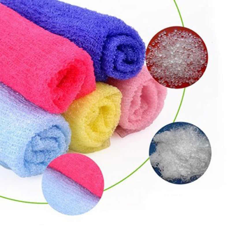 Nylon Wash Cloth Bath Towel Beauty Body Skin Exfoliating Shower Bathroom Washing щетка для тела