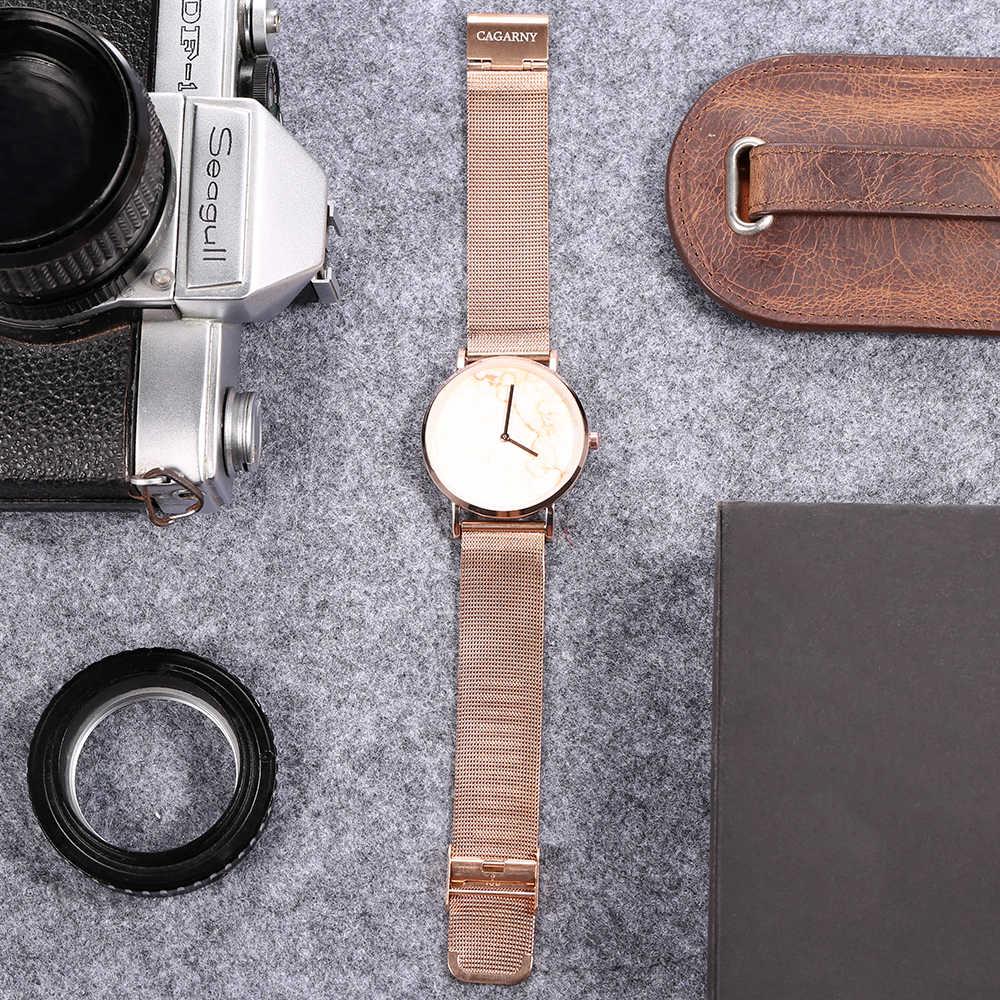 מינימליסטי נשים שעונים יפן קוורץ תנועה 36MM אופנה גבירותיי שעון נשי עלה זהב עמיד למים Reloj Mujer Dropshipping