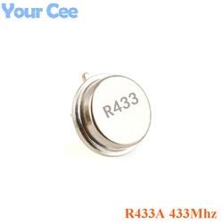 500 шт. 315 433 мгц резонатор кварцевый генератор R315A R433A с сквозными отверстиями поверхностный акустический волновой генератор круглый 3 контак...