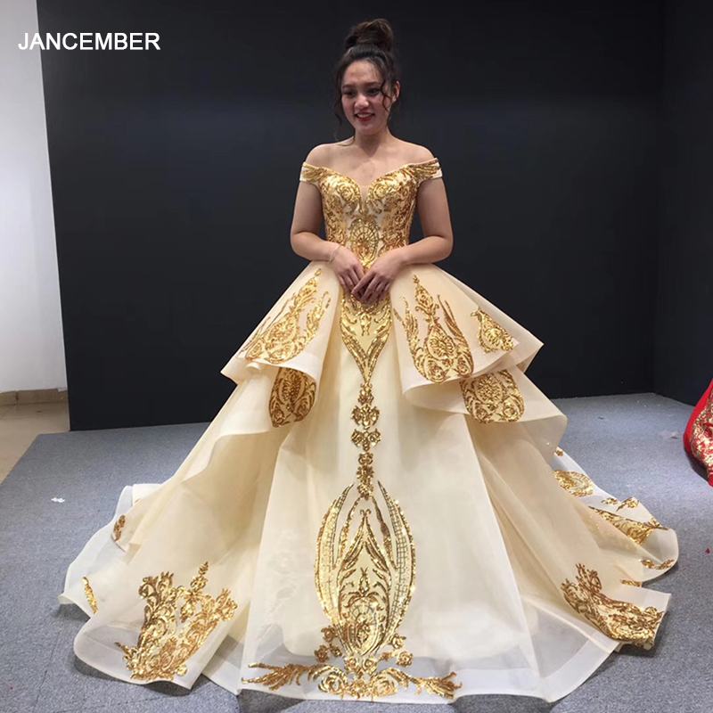 J67024 Jancember Women Dress For Wedding Party For Guest Sweetheart Off Shoulder Lace Plus Size Evening Dresses Vestido Noite