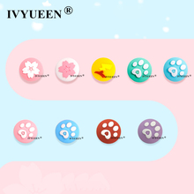 IVYUEEN for Nintend Switch Lite Analog Thumb Stick Grips for Nintendo Swith Joy Con JoyCon Joystick Animals Crossing Cap Cover