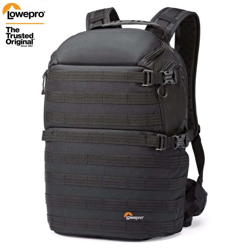 Transporte rápido genuíno lowepro protactic 350 aw dslr câmera foto saco mochila para portátil com todas as condições meteorológicas cobrir