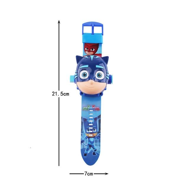 PJ Masks Toys 3D Projection Watch Set Clock Action Figure PJ Masks anime Patterns Time Clock Toys Kids Birthday Gifts