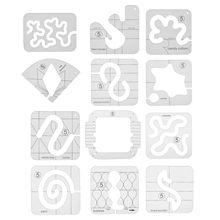 Şekilli dikiş Patchwork cetvel çok fonksiyonlu akrilik cetvel DIY işleme dikiş cetvel şablon Patchwork aracı dikiş araçları