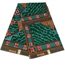 Ankara 6 Yards African Wax Print Fabric Real Flower Printed Sewing Holland Z617