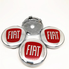4pcs 60mm Fit For FIAT Wheel Center Hubcaps Car Styling Rims Hub Cover Emblem 56mm Badge Stickers