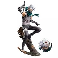 Dark Kakashi MaskAnd Blade Uchiha Figure Action Collectible Decoration PVC Model Toy for Anime Lover Figurine Home Decor Fidget
