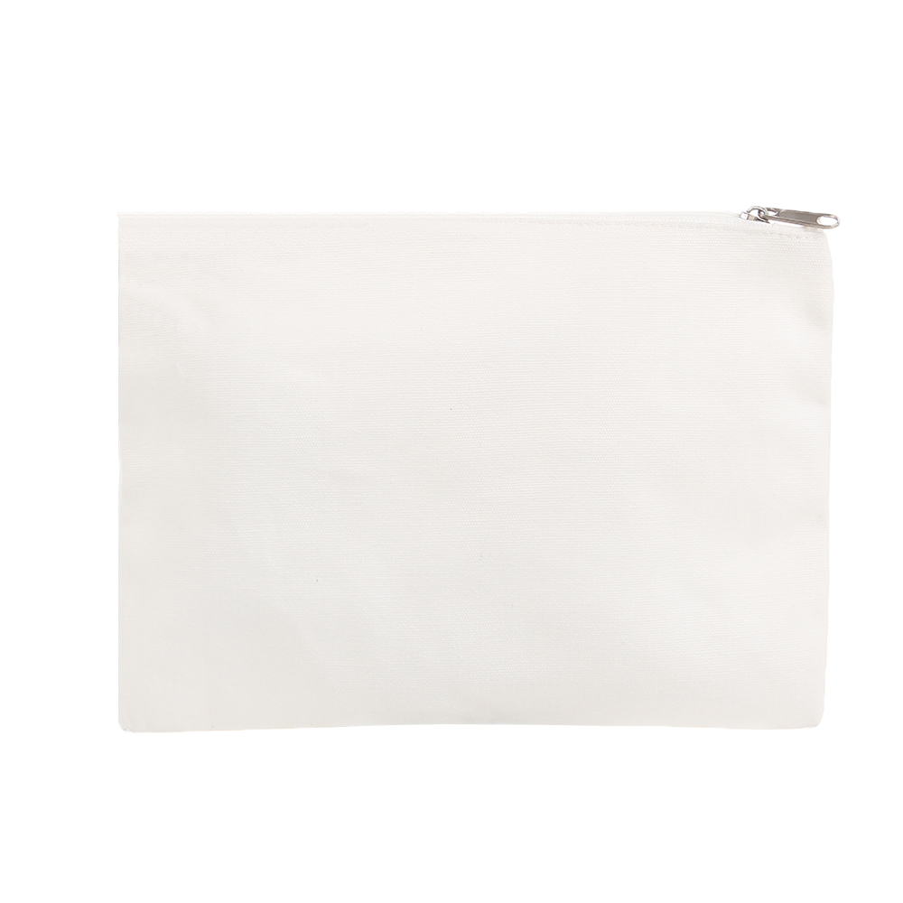 DIY Blank Cosmetic Make Up Toiletry Zipper Bag (12 Pack) Cotton Canvas