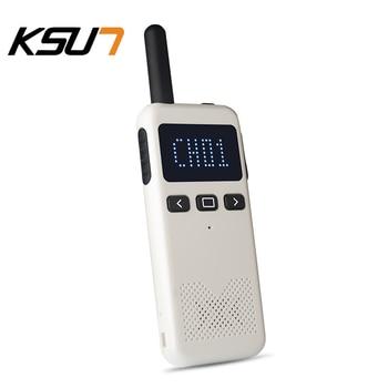 2PCS KSUN KSM3 Civil Kilometer High Power Intercom Outdoor Handheld Mini Walkie Talkie 1