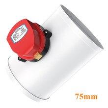 Válvula de atuador de ar elétrico, amortecedor de ar de plástico 3 Polegada para válvula de ventilação 220v 24v 12v 75mm mm