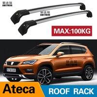 Barras de techo para seat Ateca   5-dr SUV  2016-2020  barras laterales de aleación de aluminio  baca de barras cruzadas para equipaje CUV SUV 2 uds.