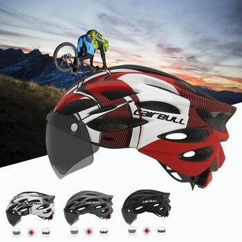 Cairbull ultraleve ciclismo intergralmente-moldado capacete de estrada mountain bike equitação capacete com viseira removível óculos de bicicleta taillig 1