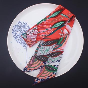 Stylu boho cienki szalik nowa marka modowa jedwabny szal dla kobiet 4 kolor kwiatowy Print szalik na głowę długi rama do torebki szale okłady tanie i dobre opinie MCMATO WOMEN Dla dorosłych Poliester Drukuj Nowość 80 cm-100 cm Szaliki