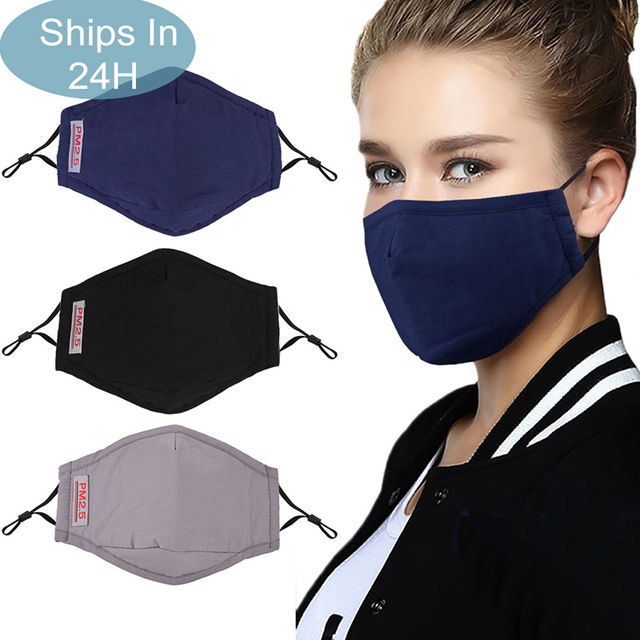 3pcs Solid Color Mouth Mask Breathable Dust Proof PM2.5 Mask Facial Mouth Cover Clothing Accessories For Outdoor Unisex