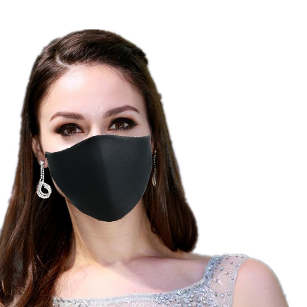Face Mask Reusable Cotton Black Masks 1Pcs Reusable