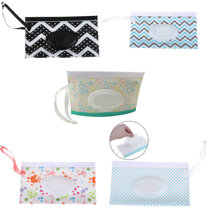 Wipes-Box Wipe-Container-Case Cleaning-Wipes Snap-Strap Carrying-Bag Clamshell Eco-Friendly