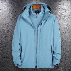 Regenjas Jas Mannen En Vrouwen Drie-In-een Regenjas Jas Warme Dikke Ademend Fleece Innerlijke Dragen Outdoor Werk kleding