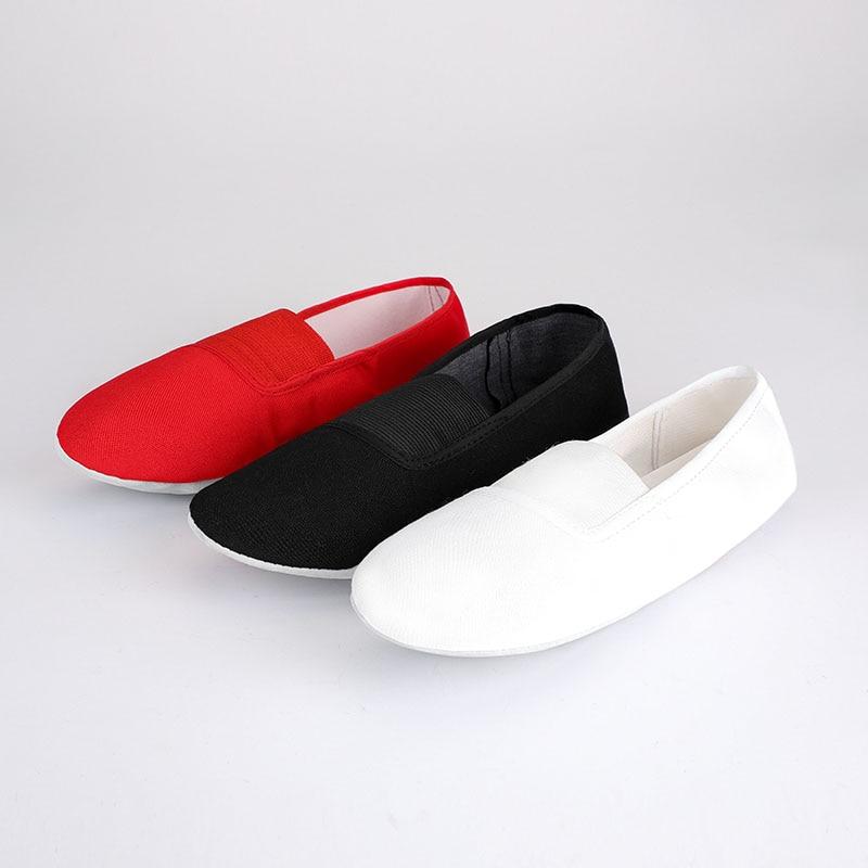 USHINE EU22-45 Upgraded Canvas Slippers Teacher Gym Indoor Exercise Fitness Yoga Ballet Dance Shoes Children Girls Woman Man