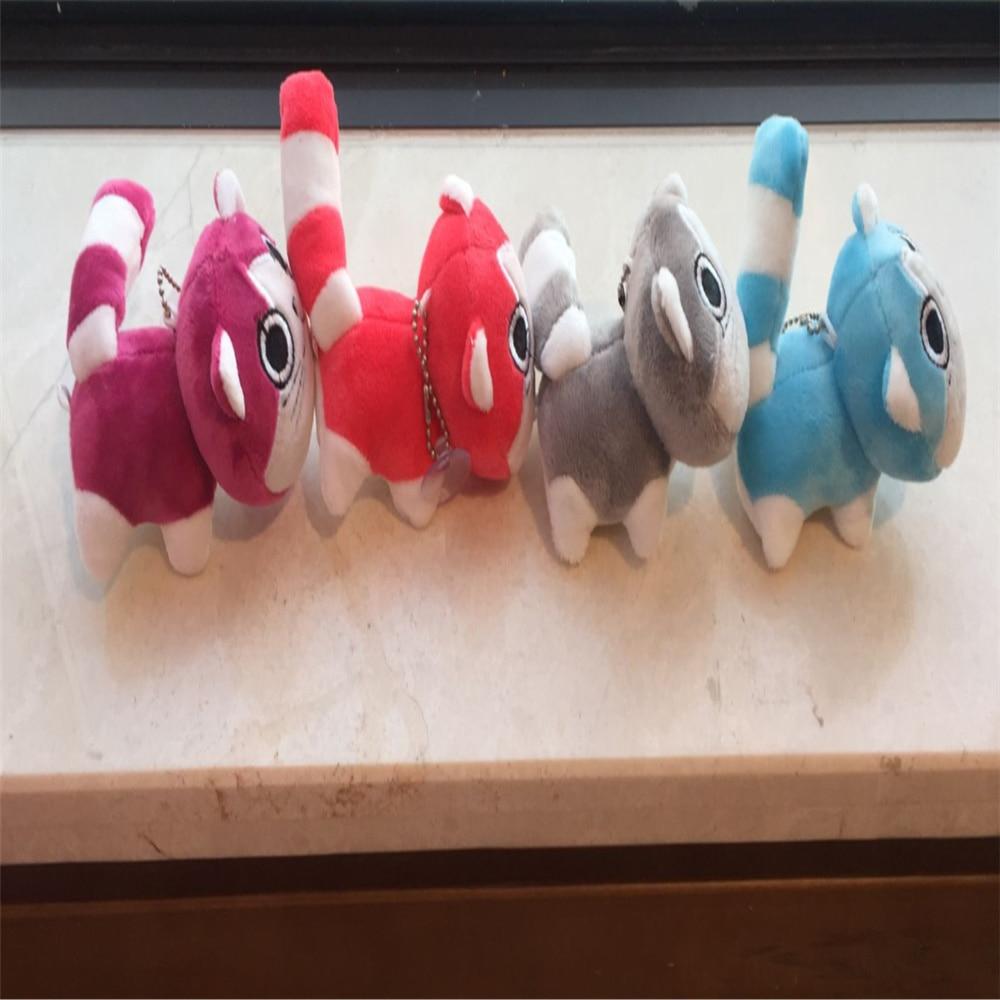 Sweet New 10CM , 4Colors , Cat Animal Toy , Plush Stuffed Key Chain Doll Stuffed & Plush Animals  - AliExpress