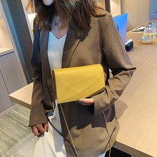 2019 New Fashion Style Shoulder Bag Magic Design Solid Color Small Square Bag Portable Simple Ladies Wild Casual Messenger Bag punk style solid color and rivets design women s shoulder bag